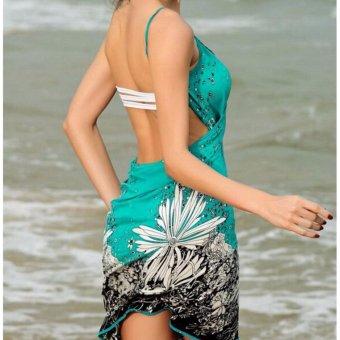 2017 New Hot Women Beach Dress Sexy Sling Beach Wear Dress SarongBikini Cover-ups Wrap Pareo Skirts Towel Open-Back Swimwear AS001 -intl - 3
