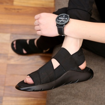 2017 new summer men sandals beach sports and leisure shoes men shoes Roman youth Korean slippers - intl - 2