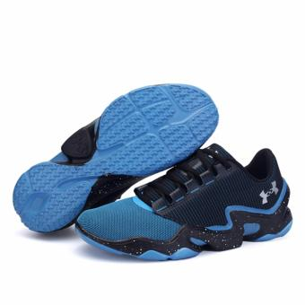 2017 Outdoors Men's Running Shoes Sports Shoes for Mens(light blue+black) - intl - 2