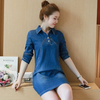 ... 2017 Spring and Summer New Women Korean Version of Large SizeLong- sleeved High-end ...