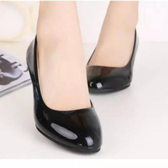2017 Spring and Summer Thick heel dress shoes for women officeshoes Plus size(Black) - intl - 4