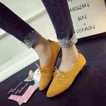 2017 Spring Summer Women Flats Casual Pointed Toe Shoes Yellow - intl