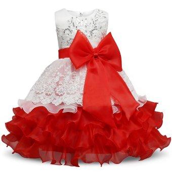 2017 Summer Flower Wedding Princess Dress Girls Children Clothing Kids Dresses for Girl Clothes Tutu Party Dress Purple - intl - 3