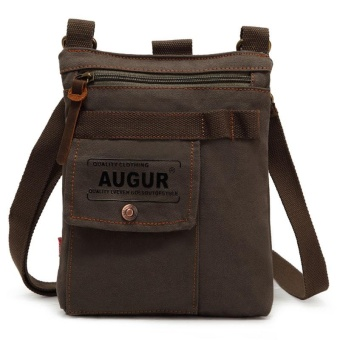2.5L Casual Mens High-strength Canvas Messenger Bag Army Green - intl Price Philippines