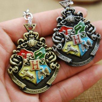 2pcs Harry Potter Movie College Logo Key Chain Keyring KeychainFashion Chaveiro Llavero Key Ring Key Holder