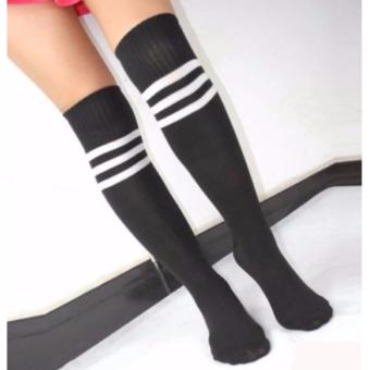 3 Pairs Men Ladies Stripe Soccer Football Running Knee High TubeSocks Sports Stockings 128g - 2