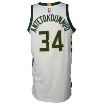 3b45d0d4e43  34 Basketball Jersey NBA Giannis Antetokounmpo Men s VS. MiamiHeat  Game-Used Swingman Milwaukee ...