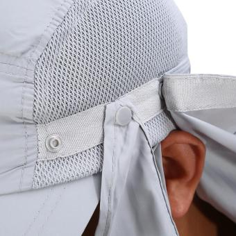360 Degree Quick Drying UV Protection Cap Neck Ear Flap Cover For Outdoors(grey) - intl - 3