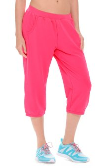 361 Degrees Knitted Cropped Pants (Dark Pink)