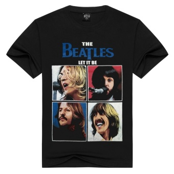 3D Men's Pure Cotton T-Shirt ( The Beatles) - intl