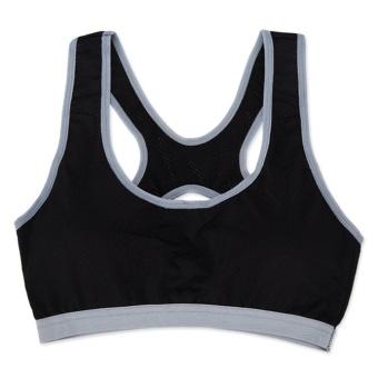 3Pcs Women's Built-up Sports Bra,One Size For All,Strong ElasticityBra For Running,Yoga,Box,BadmintonTraining,Fitness(Blue/White/Black) - intl - 3