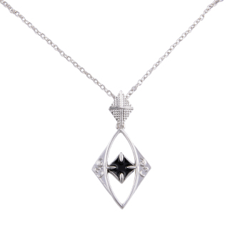 433517 Elements Hollow Necklace (Silver) - picture 2