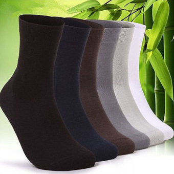 5 pairs Men's Bamboo Fiber Breathable Socks - intl
