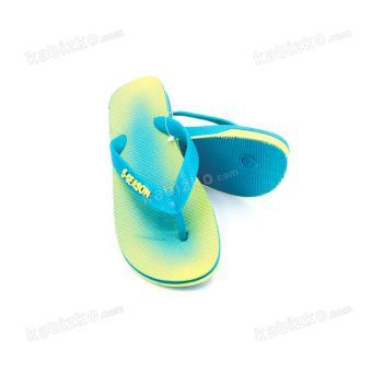 5-Season Kids Flip Flops Thick Sole Rubber Slippers 2708 (Green) - 3