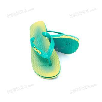 5-Season Kids Flip Flops Thick Sole Rubber Slippers 2708 (Green) - 4