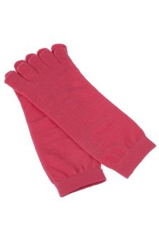 5 Toe Exercise Yoga Pilates Socks Red - picture 2