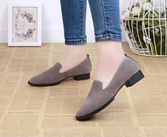 666 fashionable suede grind arenaceous for women's shoes - intl - 2
