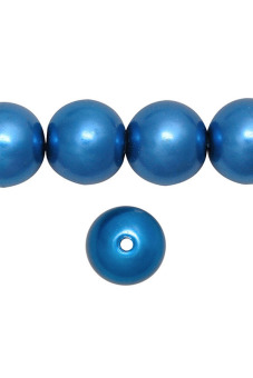 85pcs Round Glass Pearl Spacer Beads 10x10x10mm Sapphira Blue