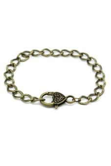 8YEARS B27249 Lobster Clasp Bracelets (Bronze) Set of 5