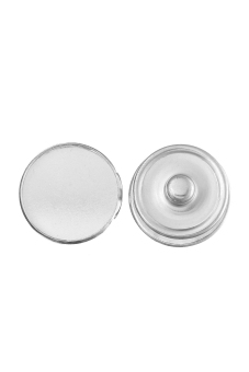 8YEARS B34800 Snap Button Accessories Set of 20 (Silver)