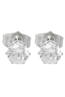 8YEARS K82888 Stud Earrings (18K White Gold Plated)