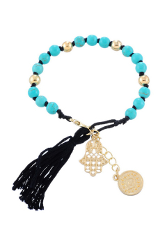 8YEARS UP00327 Strand Bracelet (Black/Blue)