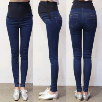 923# Denim Maternity Jeans Belly Pants Clothes - Intl