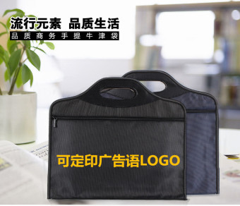 A4 canvas multi-layer waterproof thick storgage bag file bag