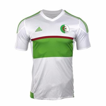 Adidas Men's White-Green Algerie Home Season 2016/2017 Soccer Jersey BH6353