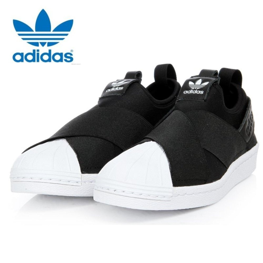318545e7ff4 ... Adidas Originals Superstar Slip-on Shoes S81337 Black White Express -  intl ...