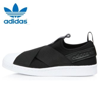Adidas Originals Superstar Slip-on Shoes S81337 Black/White Express - intl - 3