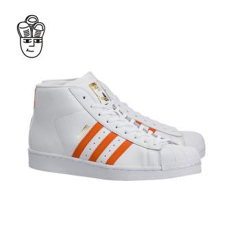 Adidas Pro Model Retro Basketball Shoes White / Orange-Gold by3729 -SH - 2