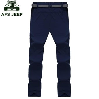 AFS JEEP Men's Pizex Waterproof Quick Drying Thin Breathable ParkaPant(Color:Dark Grey) - intl - 4