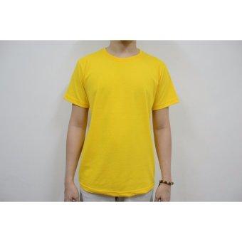 AIIZ UNISEX Plain T-Shirt (Yellow) - 4