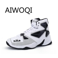 PHP 1.434. AIWOQI Mens Womens Classic Best Professional Basketball Shoes Fashion Suitable Men's Breathable Shoes for Basketball Running Sport ...