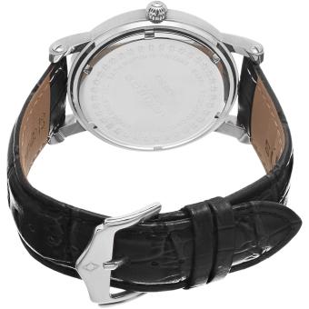 Akribos XXIV Men's Black Leather Strap Watch AK632SSW - 2