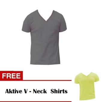 Aktive Model 501 V-Neck T-Shirts Grey Free Aktive V-Neck T-ShirtsYellow Price Philippines