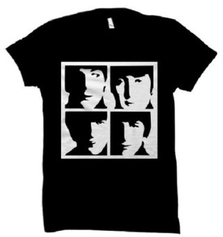 All About Rock The Beatles Frame Band Shirt (Black)