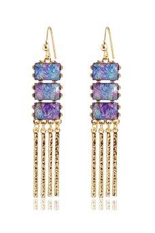 Alloy Tassel Drop Earrings (Multicolor)