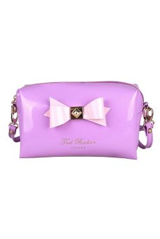 Amango Cosmetic Bag Makeup Travel Storage Bag Purple