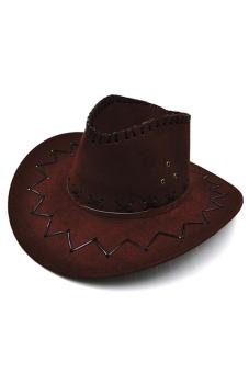 Amango Unisex Hat Cowboy Knight Western Visor Coffee