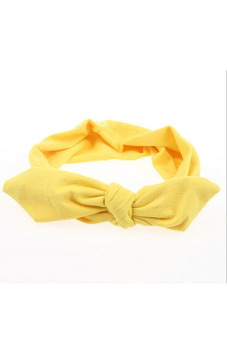 Amango Wide Ribbon Headband (Yellow)