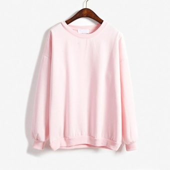 Amart Autumn Winter Women Hoodies Casual Sweatshirt Pullover Tops(Pink) - intl