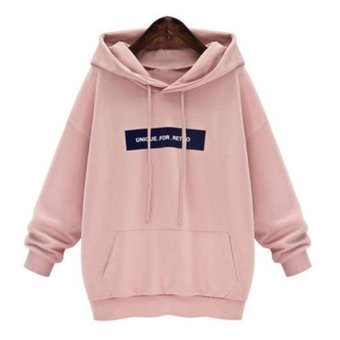 Amart Korean Women Casual Solid Hoodies Hooded Sweatshirts Pockets Pullovers Tops - intl