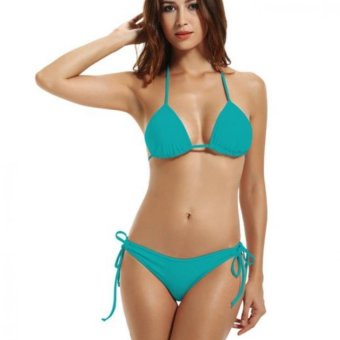 Amart Women Sexy Bikini Swimwear Halter Neck Bikinis Hot two-pieces Swimsuits