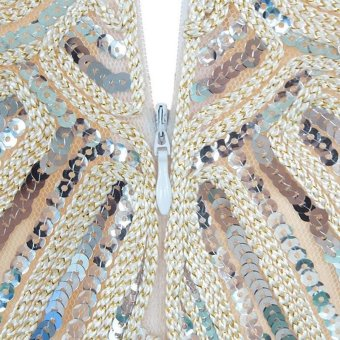 Amart Women Tassel Dress Vintage Fringe Evening Party Dresses (Beige) - intl - 4