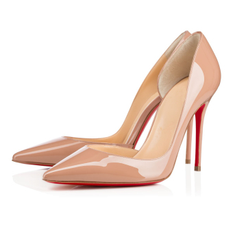 Amourplato Womens Fashion High Heel Pumps Patent Leather PointedToe Nude Shoes - Intl - 2