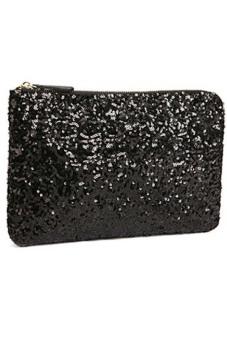 Ansee Sparkle Spangle Clutch Evening Bag (Black)