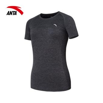 0c458972aeefe Best Buy ANTA comfortable short sleeved female New style T-shirt (Basic  black  flower Gray ) in Philippines