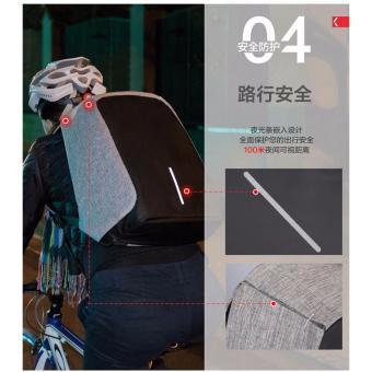 Anti Lost Design Against Theft Shoulder Bag Men and Women BusinessComputer Backpack 32x14x44cm - intl - 3